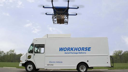 This firm beat Amazon to drone deliveries by launching it from the roof of a truck